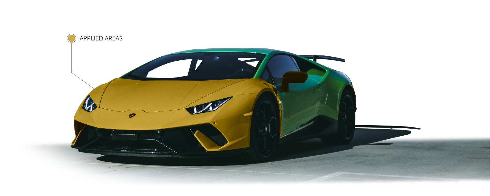 WAX-IT Detailing PPF Detail Paint Protection Film Full Front Label Lamborghini